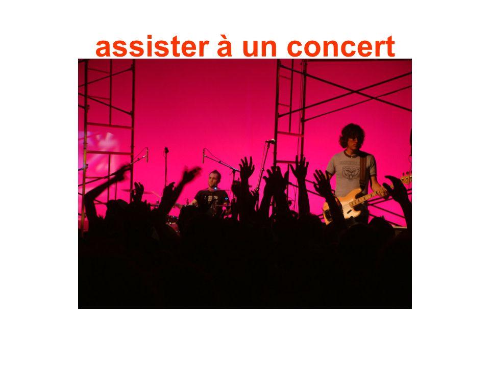 assister à un concert