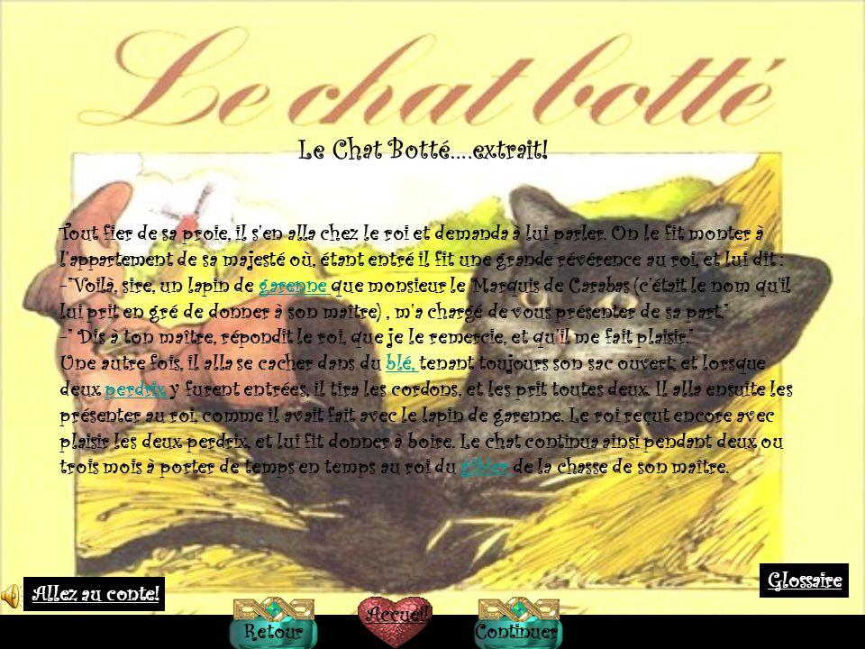 Le Chat Botté….extrait!
