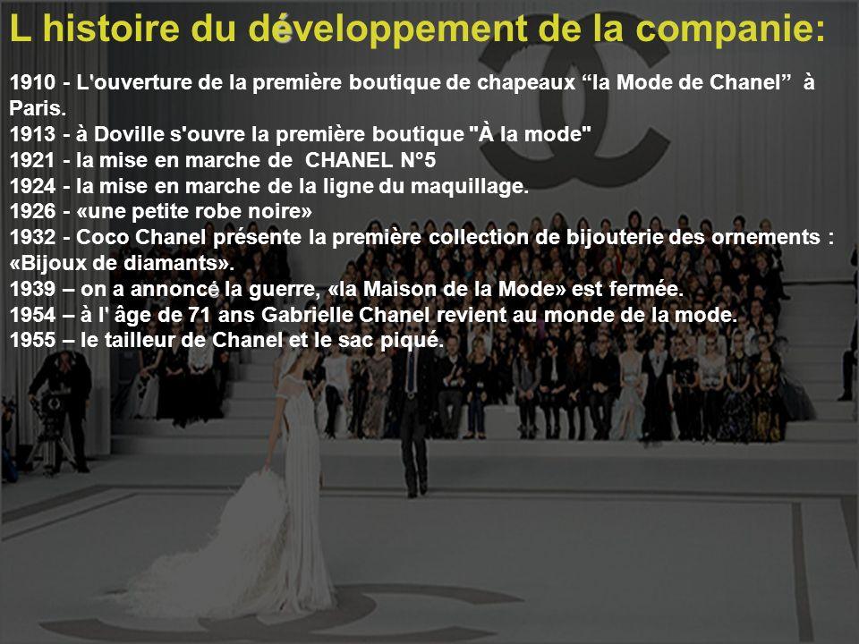 L histoire du développement de la companie: