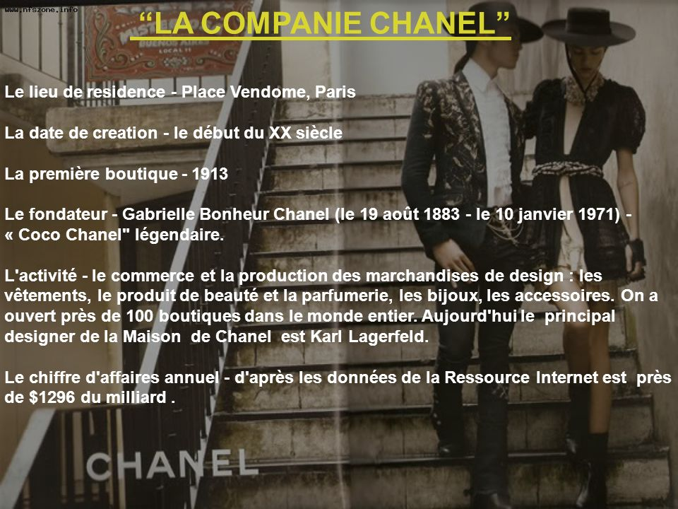 LA COMPANIE CHANEL Le lieu de residence - Place Vendome, Paris