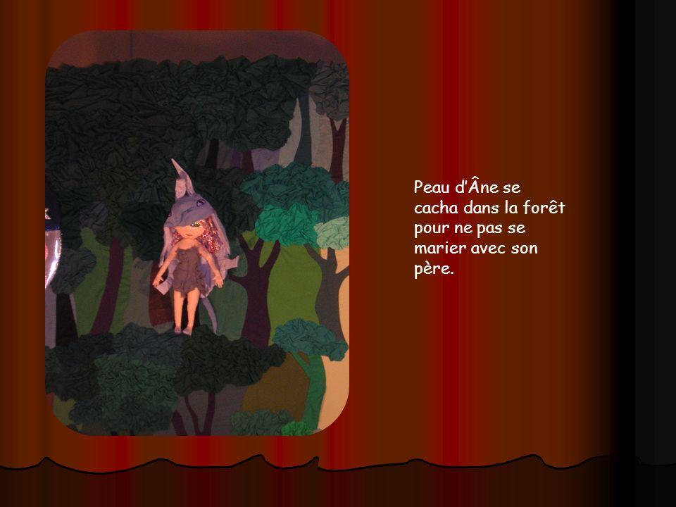 Peau d'Âne se cacha dans la forêt pour ne pas se marier avec son père.