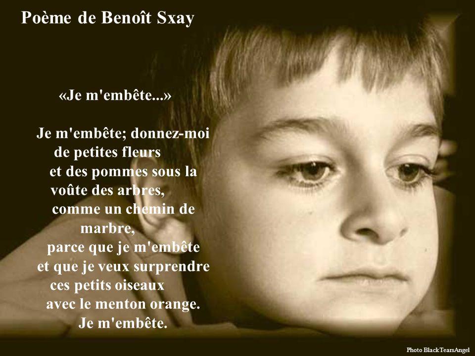 Poème de Benoît Sxay «Je m embête