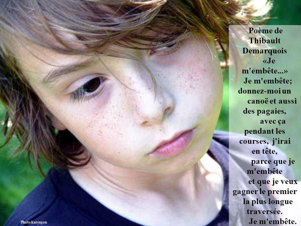 Poème de Thibault Demarquois «Je m embête