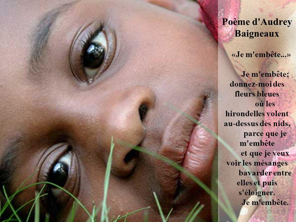Poème d Audrey Baigneaux «Je m embête
