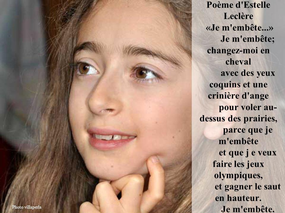 Poème d Estelle Leclère «Je m embête