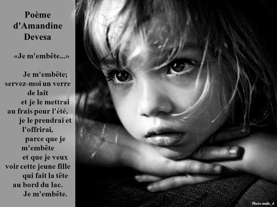 Poème d Amandine Devesa «Je m embête