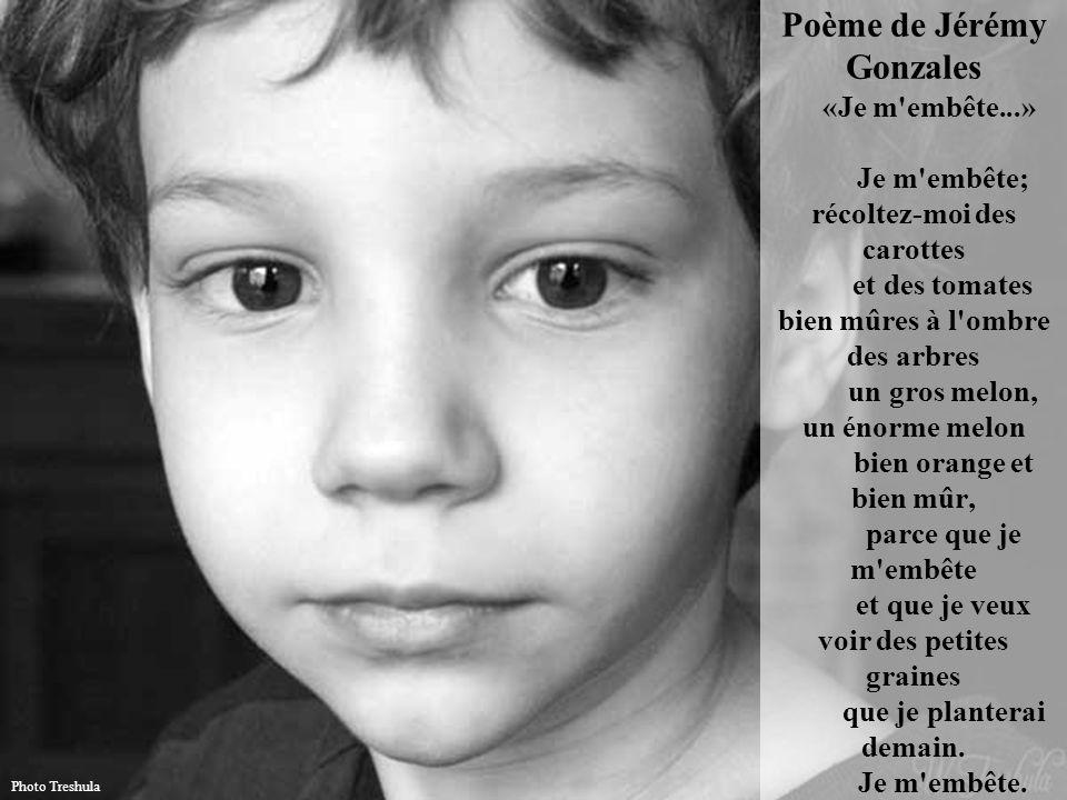 Poème de Jérémy Gonzales «Je m embête
