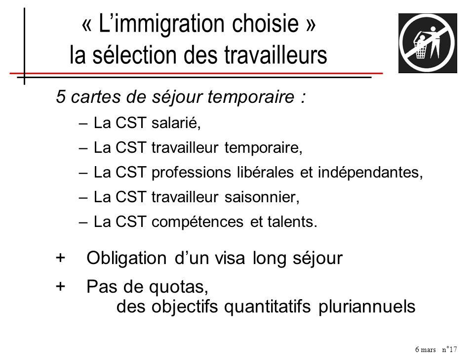 « L'immigration choisie » la sélection des travailleurs