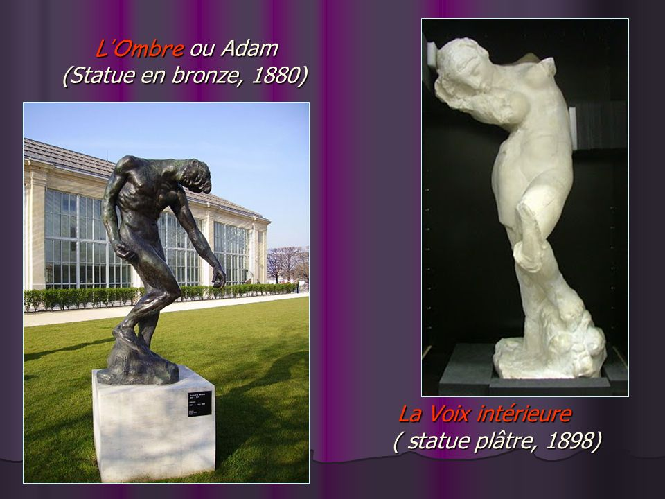 L'Ombre ou Adam (Statue en bronze, 1880)