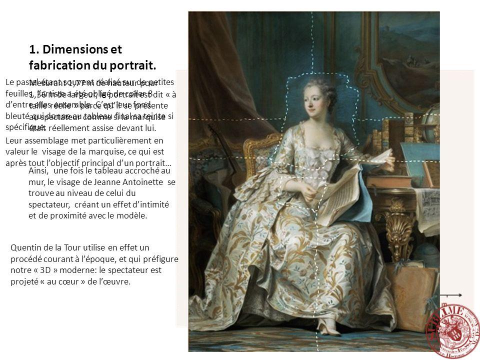 1. Dimensions et fabrication du portrait.
