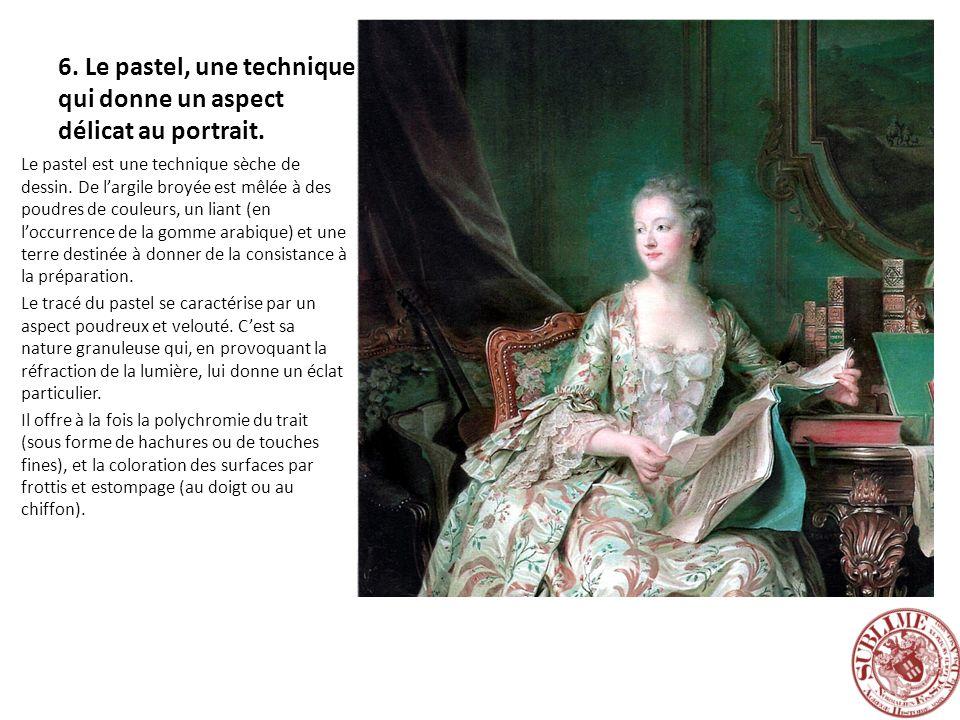 6. Le pastel, une technique qui donne un aspect délicat au portrait.