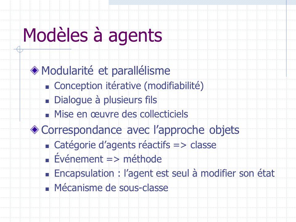 Modèles à agents Modularité et parallélisme