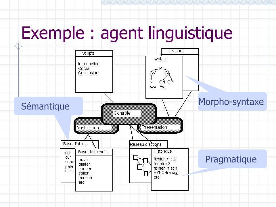 Exemple : agent linguistique
