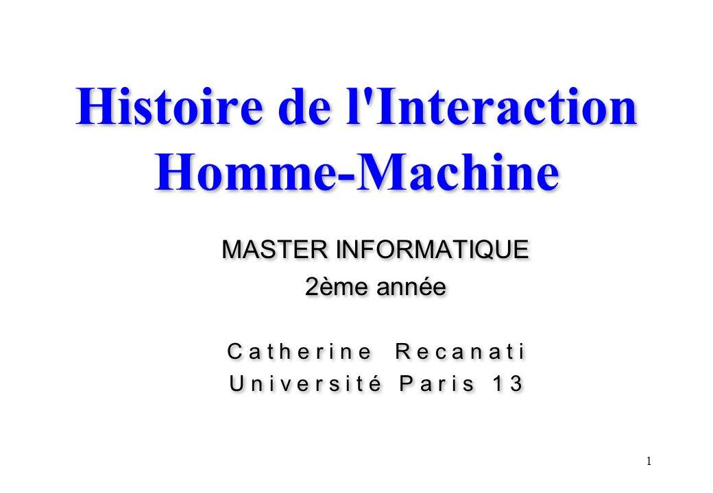 Histoire de l Interaction Homme-Machine