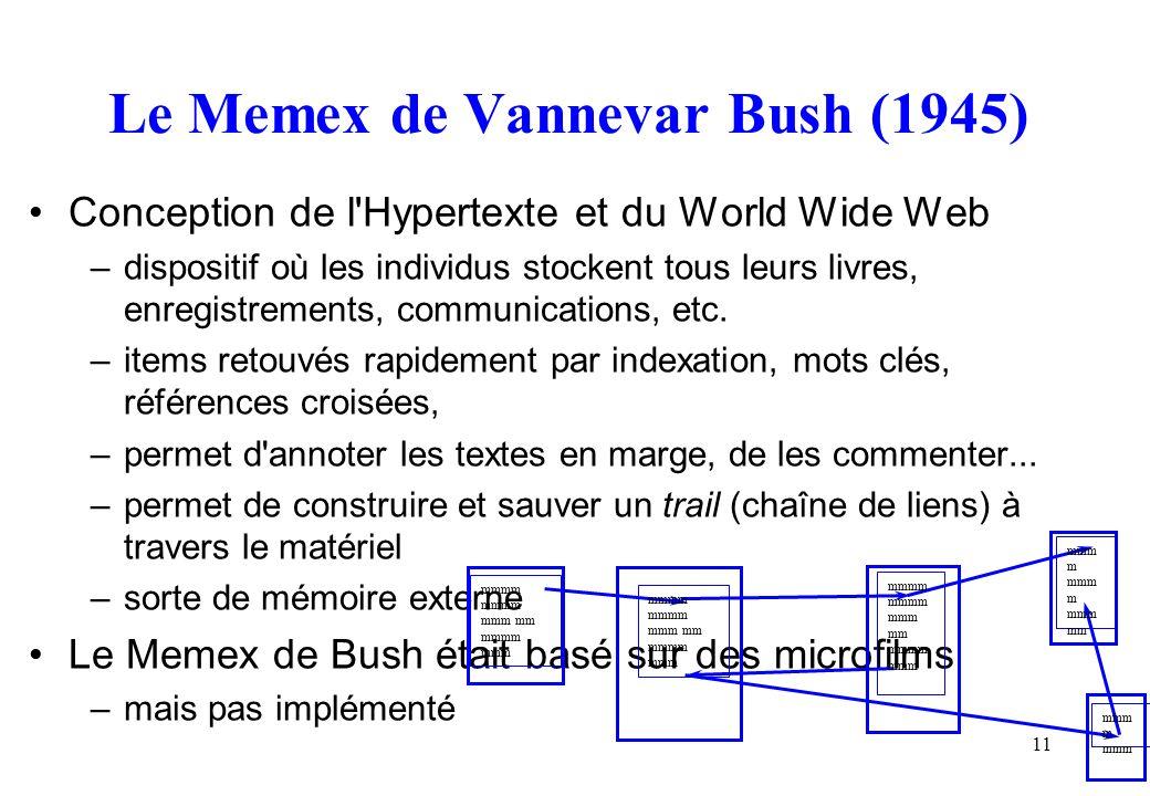 Le Memex de Vannevar Bush (1945)