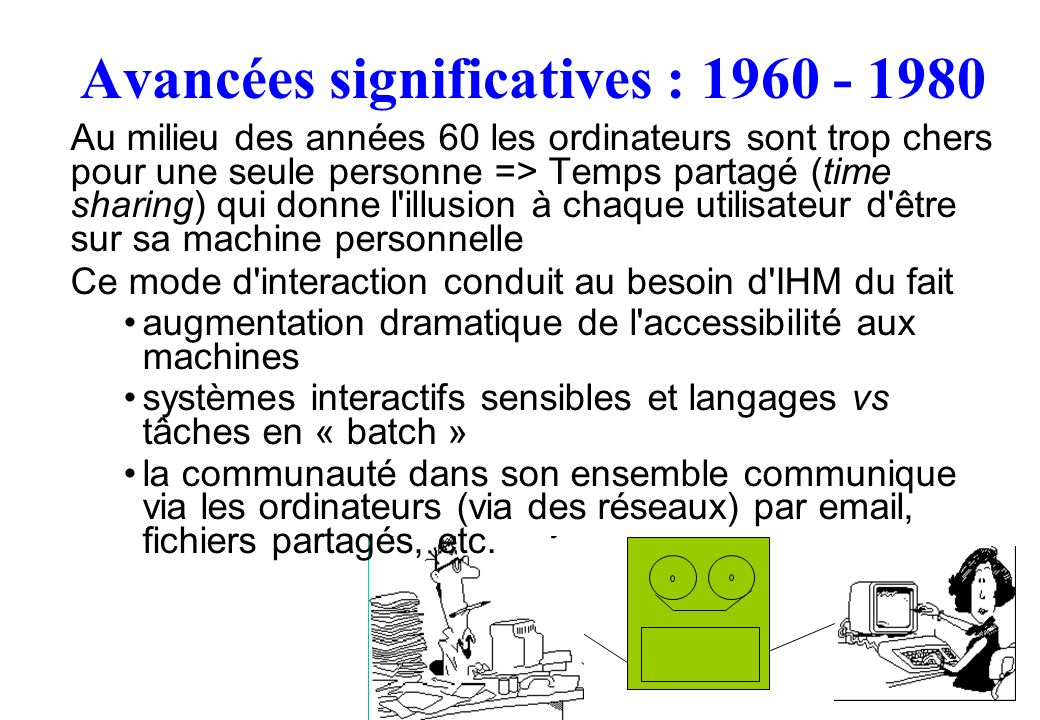 Avancées significatives : 1960 - 1980