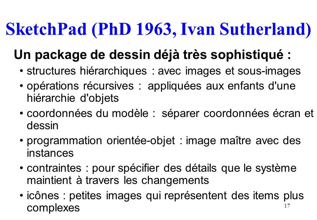 SketchPad (PhD 1963, Ivan Sutherland)