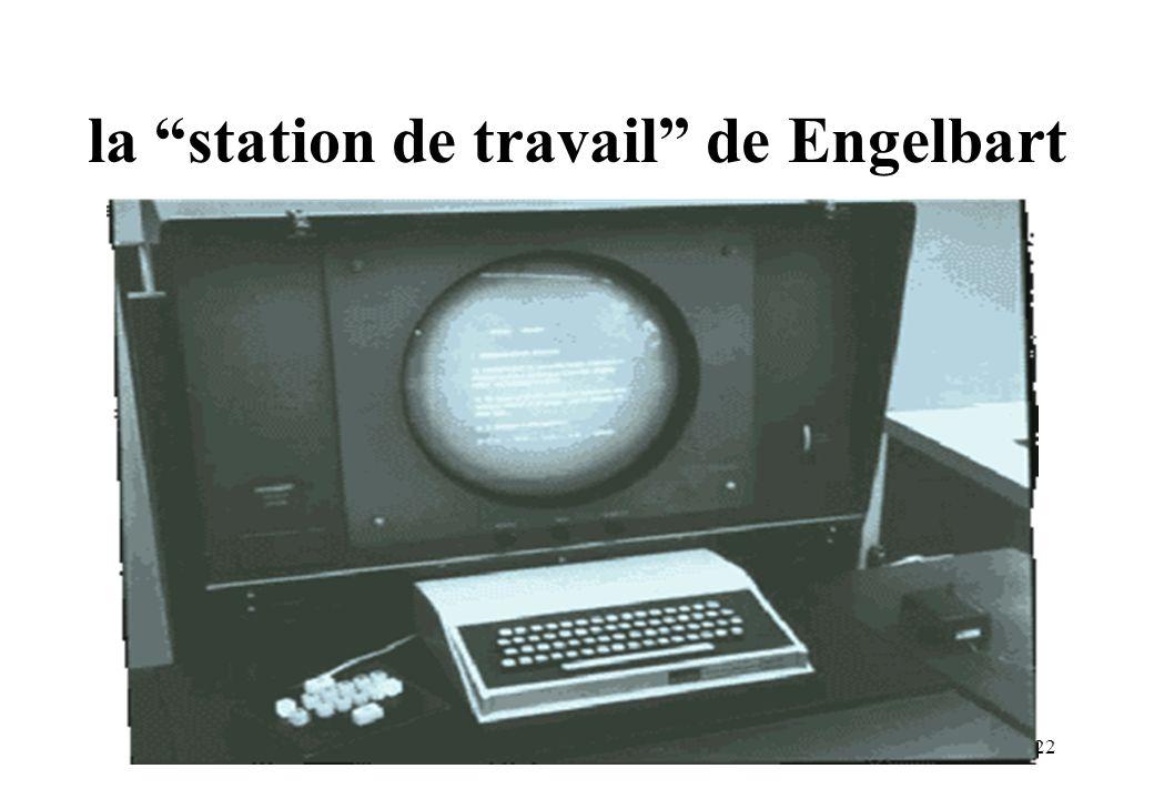 la station de travail de Engelbart