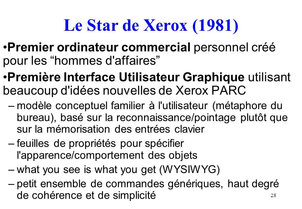 Le Star de Xerox (1981) Premier ordinateur commercial personnel créé pour les hommes d affaires
