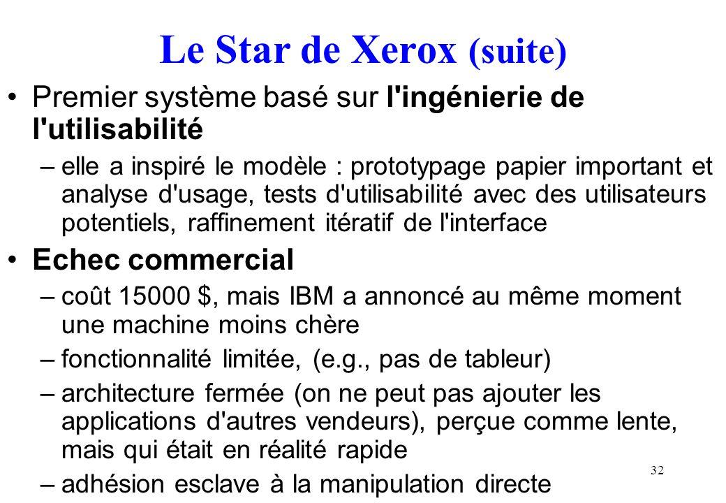 Le Star de Xerox (suite)
