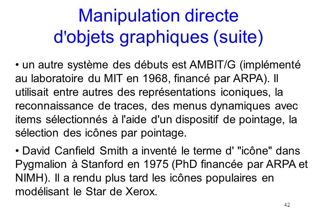 Manipulation directe d objets graphiques (suite)