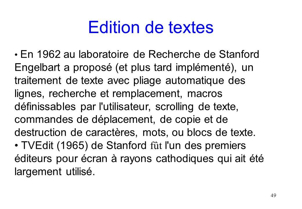 Edition de textes