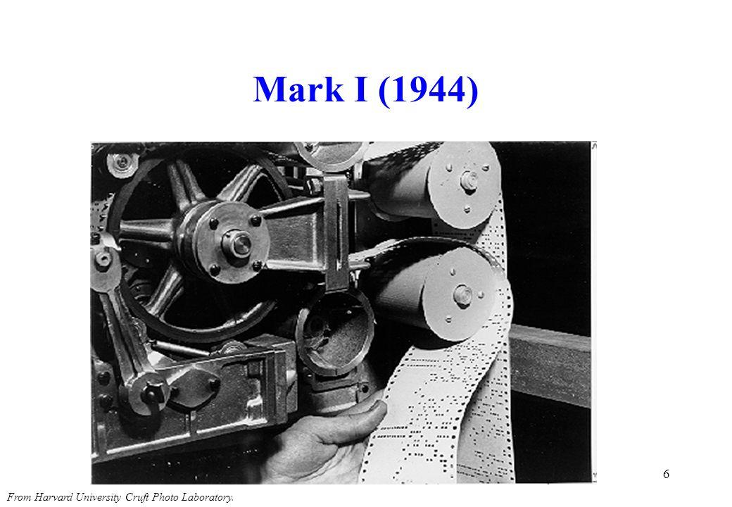 Mark I (1944) The Mark I paper tape readers.