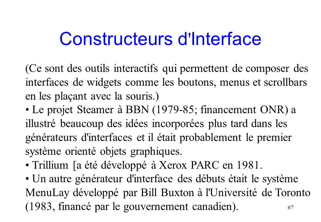 Constructeurs d Interface