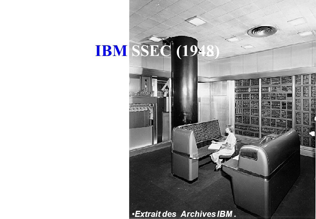 IBM SSEC (1948) Extrait des Archives IBM .