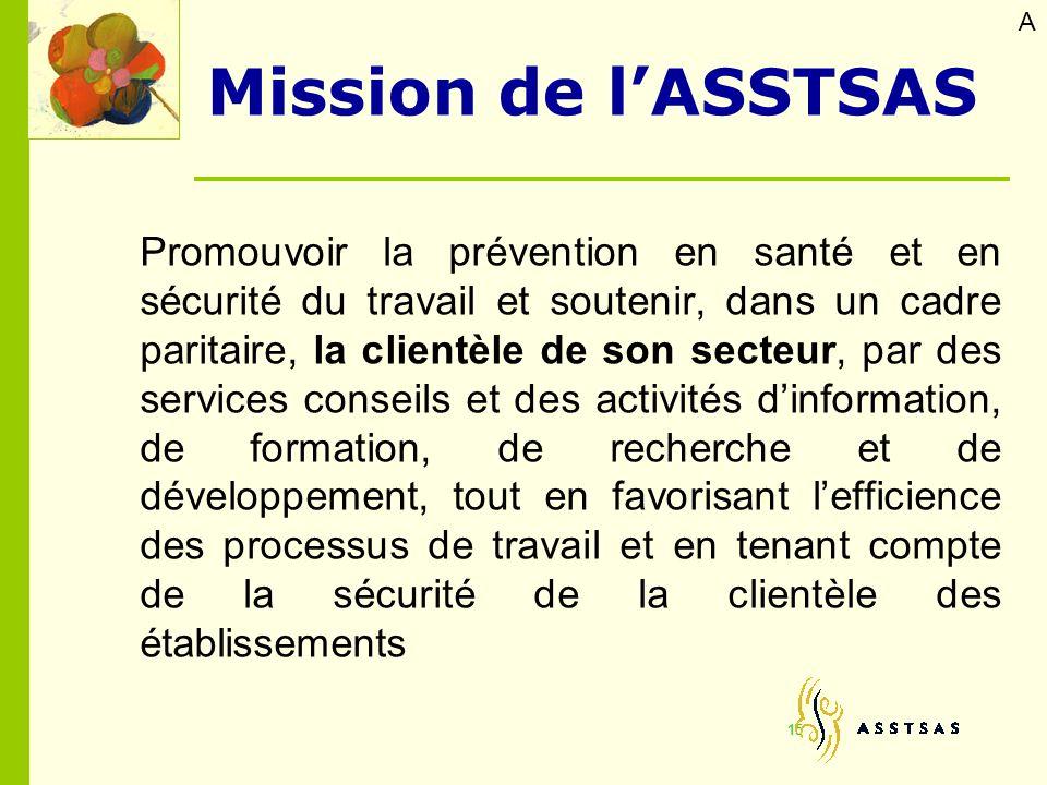 A Mission de l'ASSTSAS.