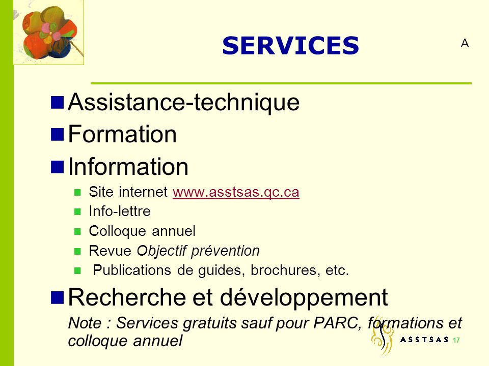 Assistance-technique Formation Information