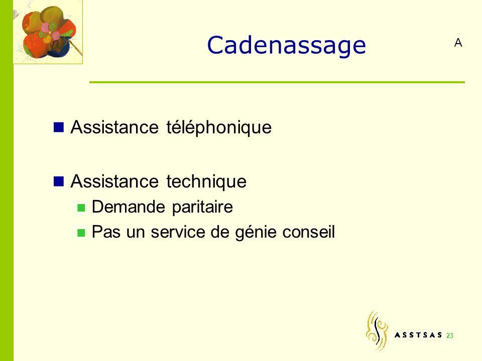 Cadenassage Assistance téléphonique Assistance technique