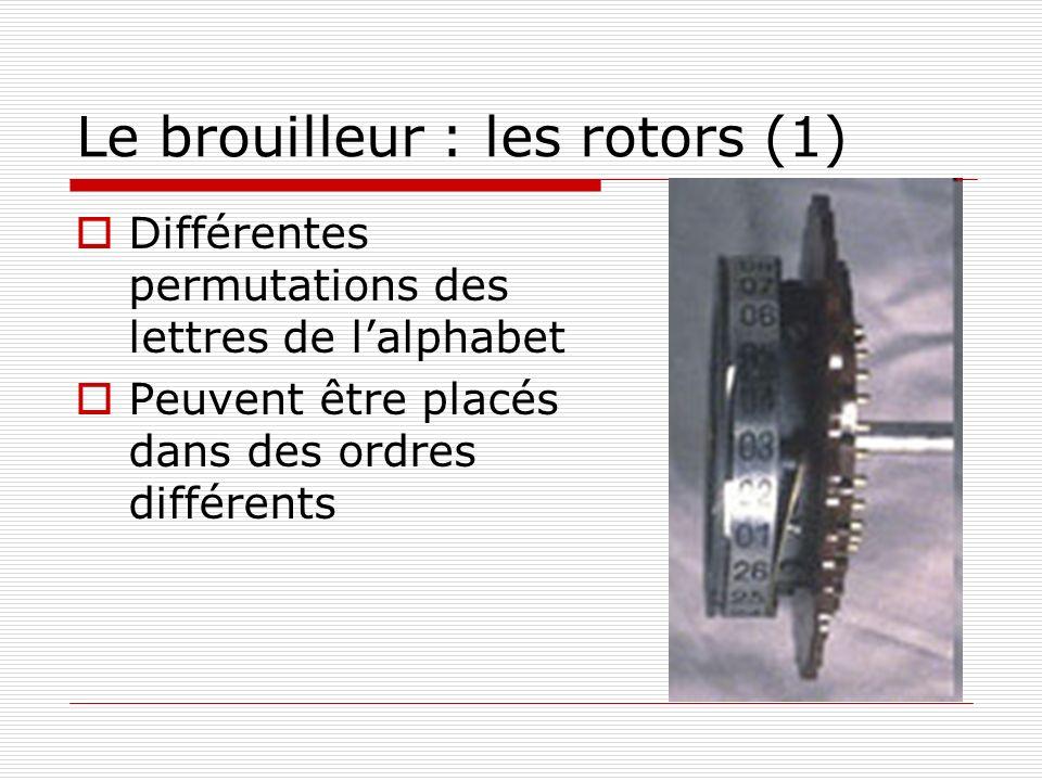 Le brouilleur : les rotors (1)