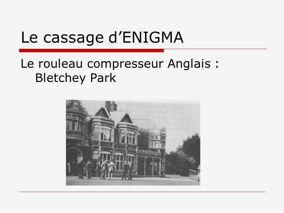 Le cassage d'ENIGMA Le rouleau compresseur Anglais : Bletchey Park