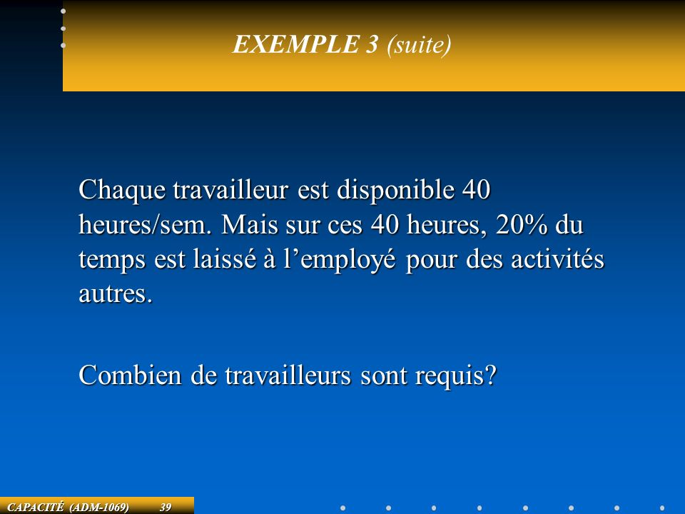 EXEMPLE 3 (suite)