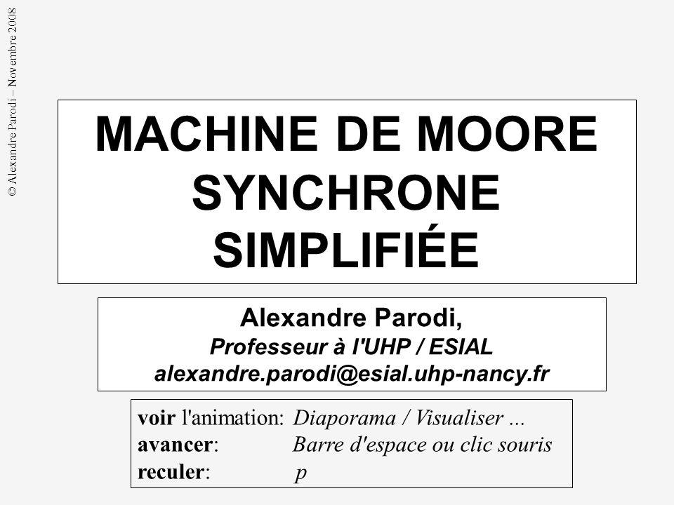 MACHINE DE MOORE SYNCHRONE SIMPLIFIÉE Professeur à l UHP / ESIAL