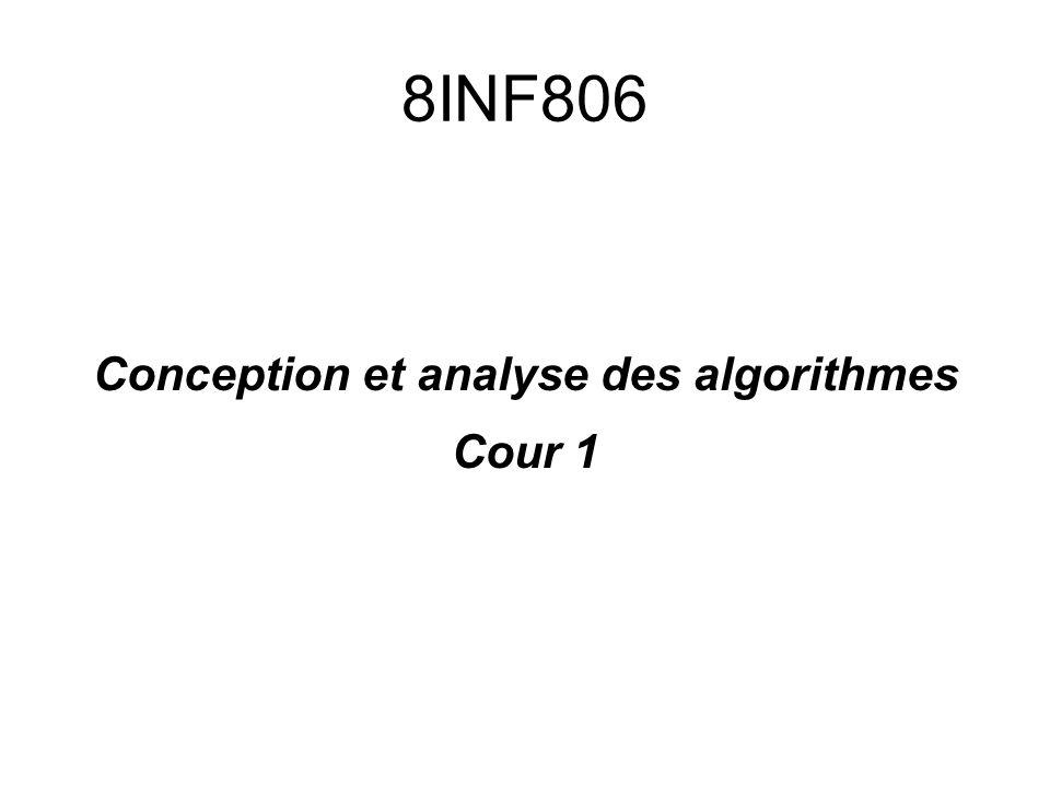 Conception et analyse des algorithmes