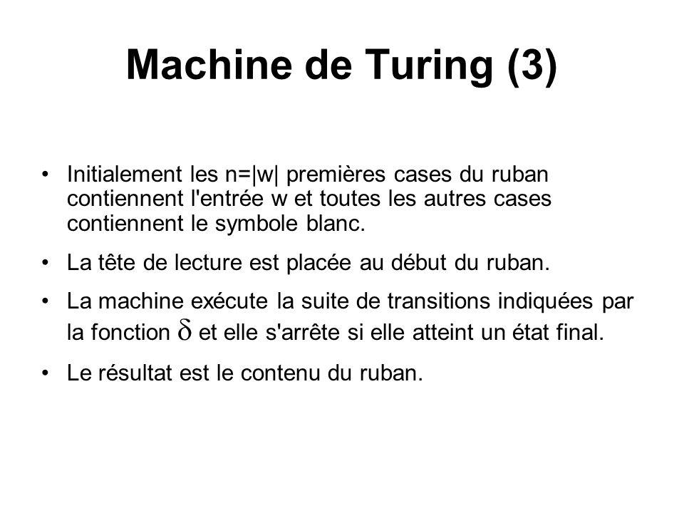 Machine de Turing (3)