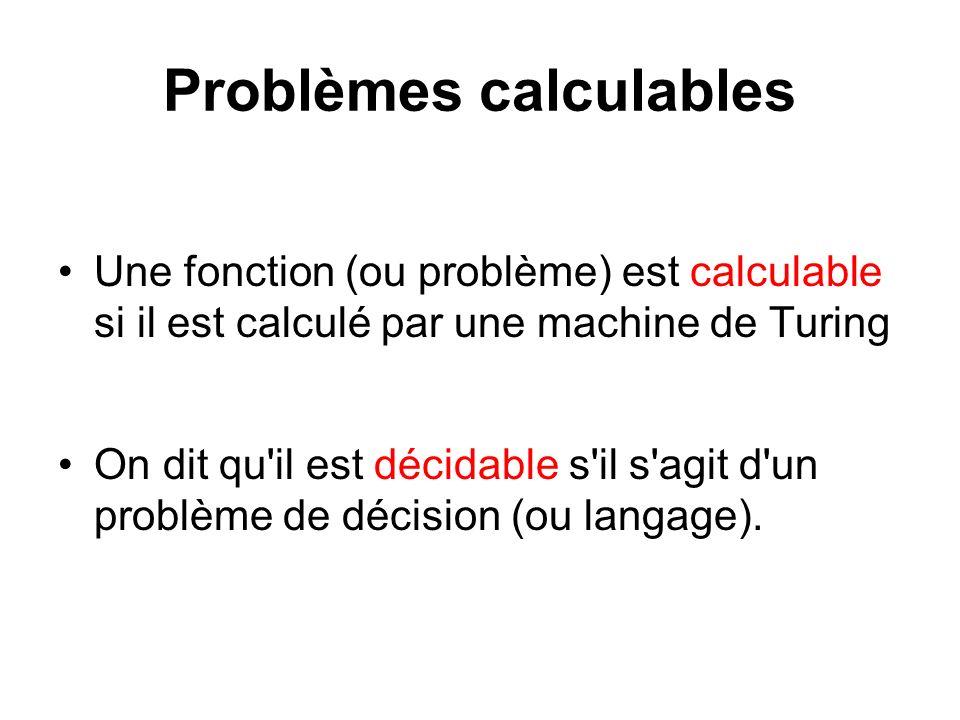 Problèmes calculables