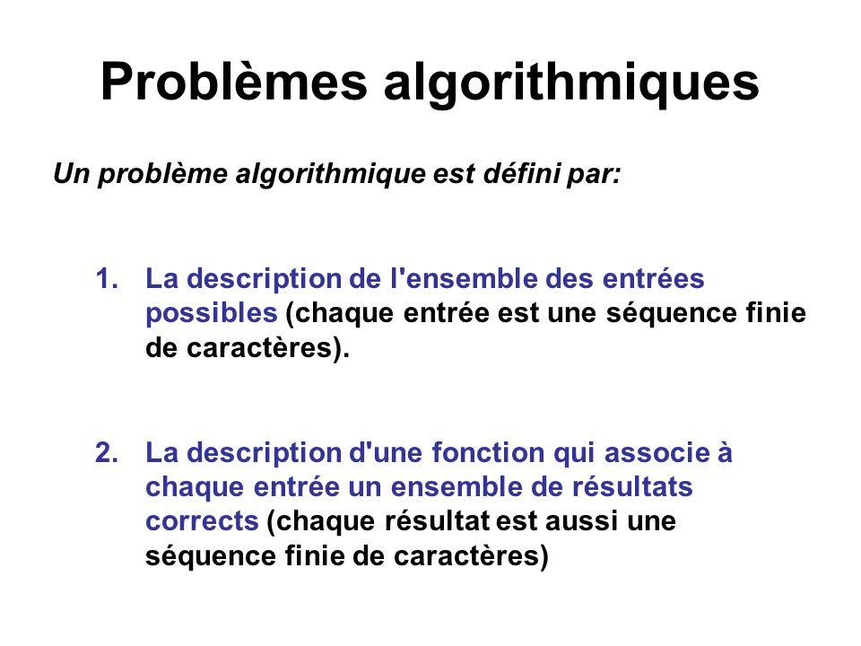 Problèmes algorithmiques