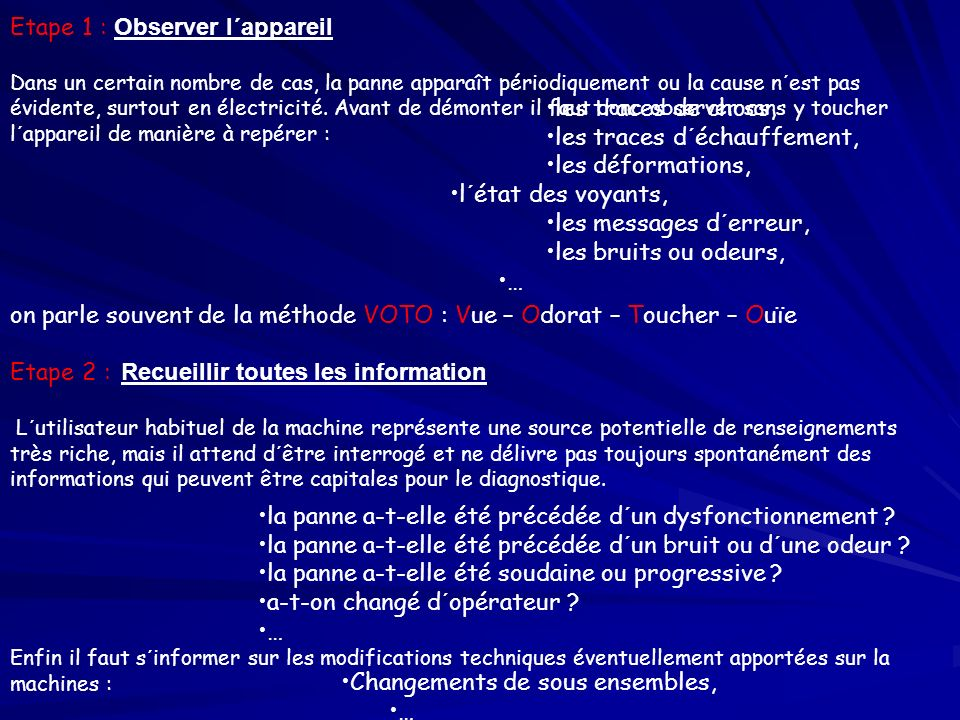 Etape 1 : Observer l´appareil