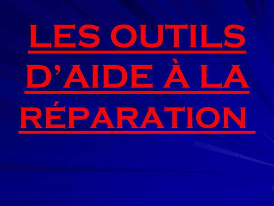 LES OUTILS D'AIDE À LA RÉPARATION