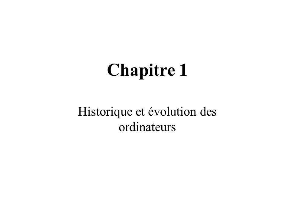 Historique et évolution des ordinateurs