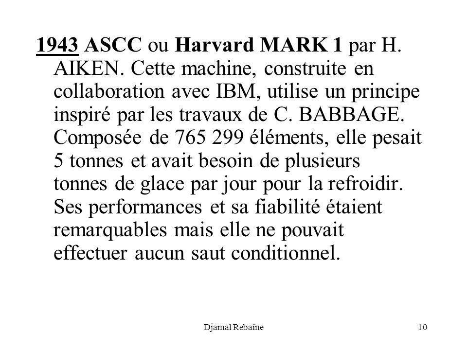1943 ASCC ou Harvard MARK 1 par H. AIKEN