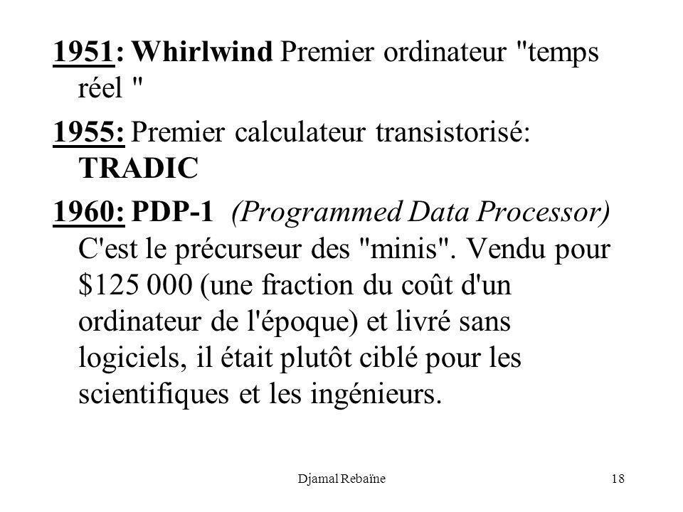 1951: Whirlwind Premier ordinateur temps réel