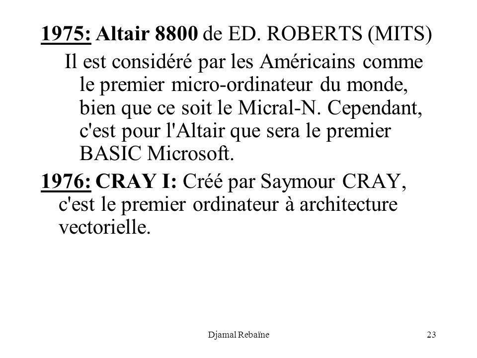 1975: Altair 8800 de ED. ROBERTS (MITS)