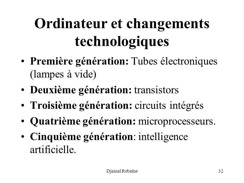 Ordinateur et changements technologiques