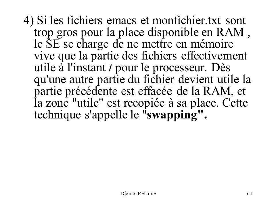 4) Si les fichiers emacs et monfichier