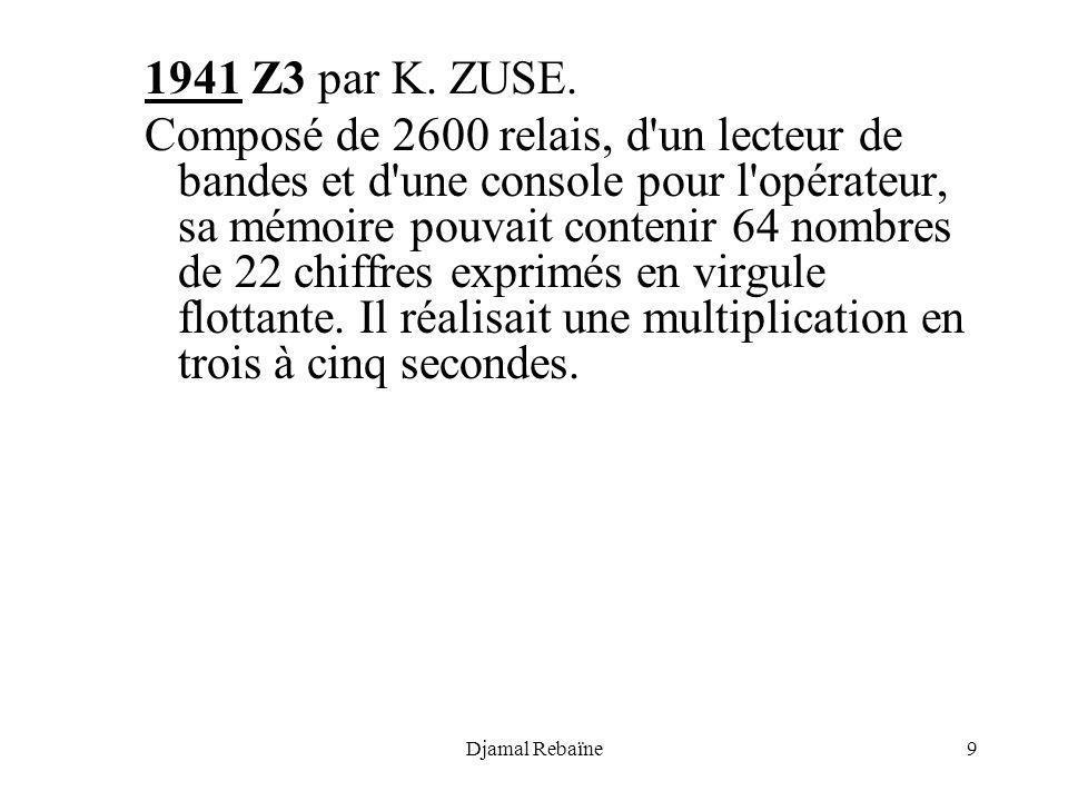 1941 Z3 par K. ZUSE.
