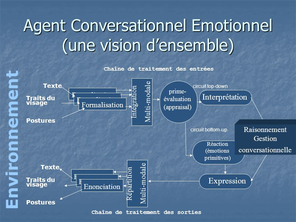 Agent Conversationnel Emotionnel (une vision d'ensemble)